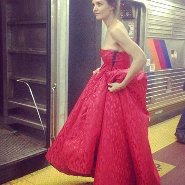 Katie Holmes, Subway, Instagram