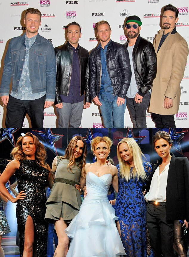 Backstreet Boys, Spice Girls