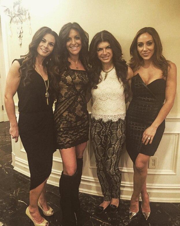 Teresa Giudice, Melissa Gorga, Christina Flores, Robyn Levy, New Year's Eve 2015