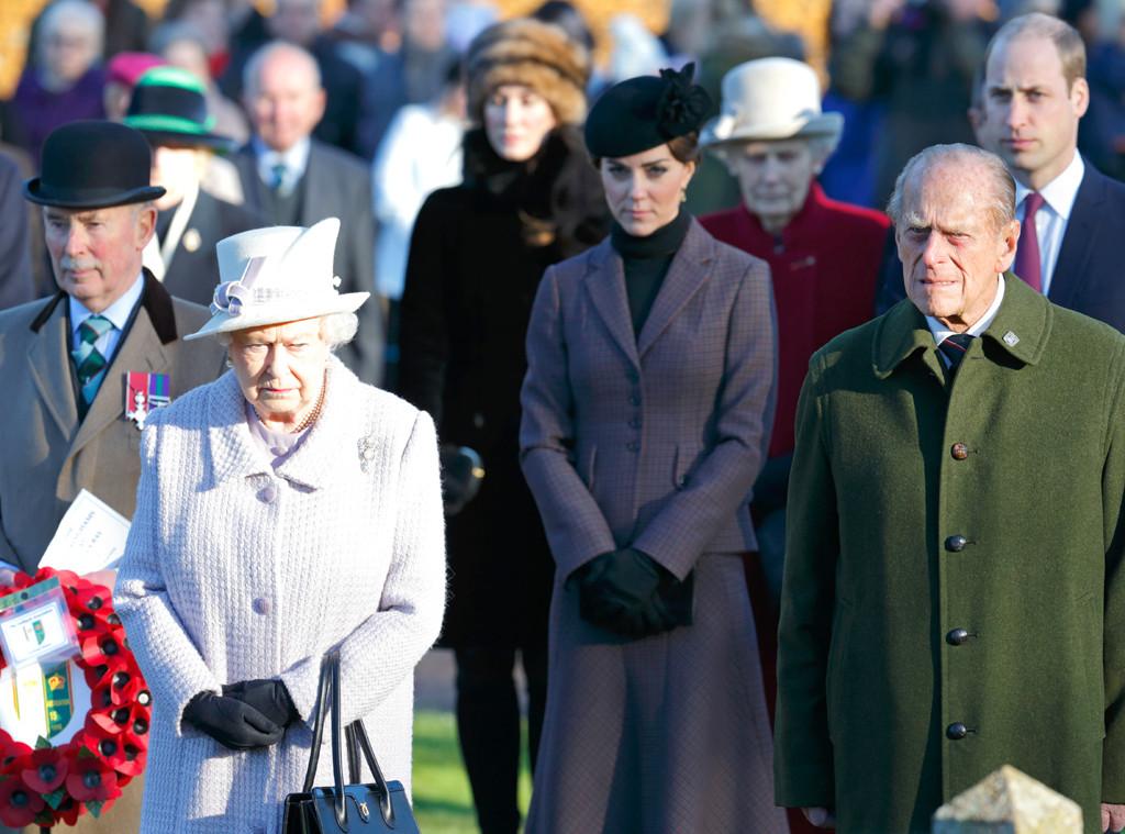 Queen Elizabeth II, Catherine, Duchess of Cambridge, Prince Philip, Duke of Edinburgh, Prince William, Duke of Cambridge