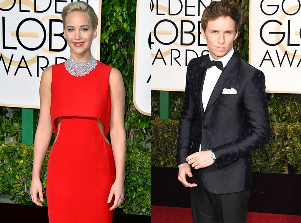 Eddie Redmayne, Jennifer Lawrence, Golden Globe Awards