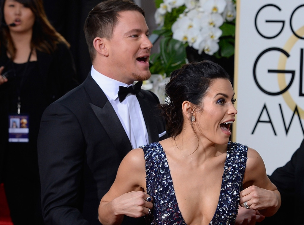 Channing Tatum, Jenna Dewan, Golden Globe Awards, Candids