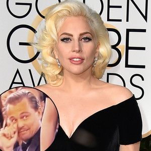 Lady Gaga, Leonardo DiCaprio, Golden Globe Awards