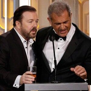 Ricky Gervais, Mel Gibson, Golden Globe Awards