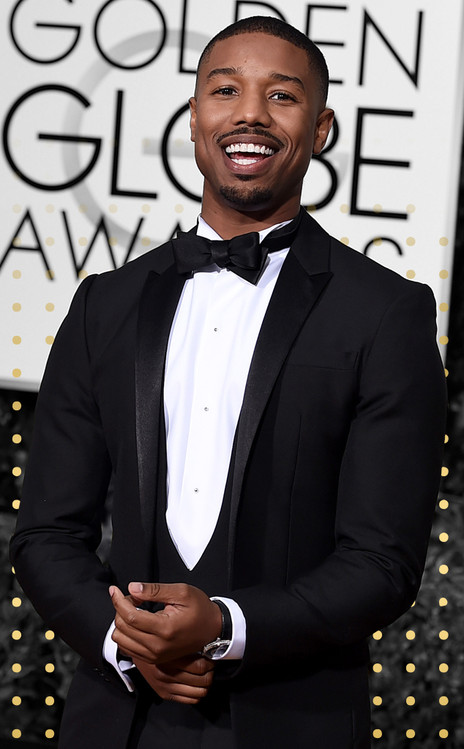 Best Dressed Men Gallery Cover, Michael B. Jordan, Golden Globe Awards
