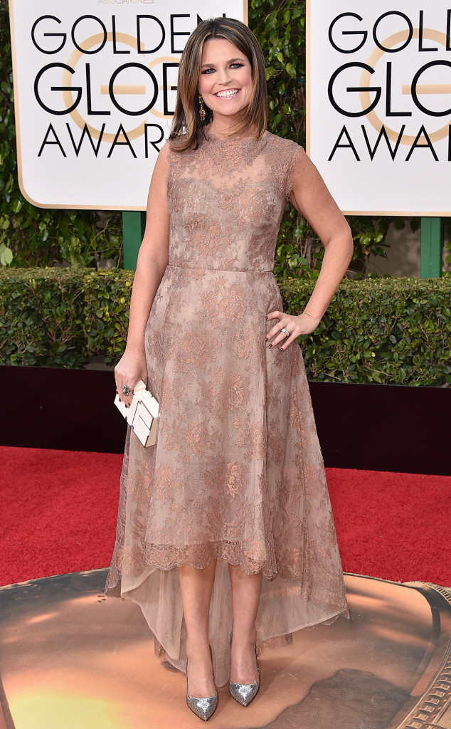 Savannah Guthrie, Golden Globe Awards
