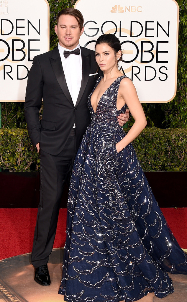 Channing Tatum, Jenna Dewan Tatum, Golden Globe Awards Couples