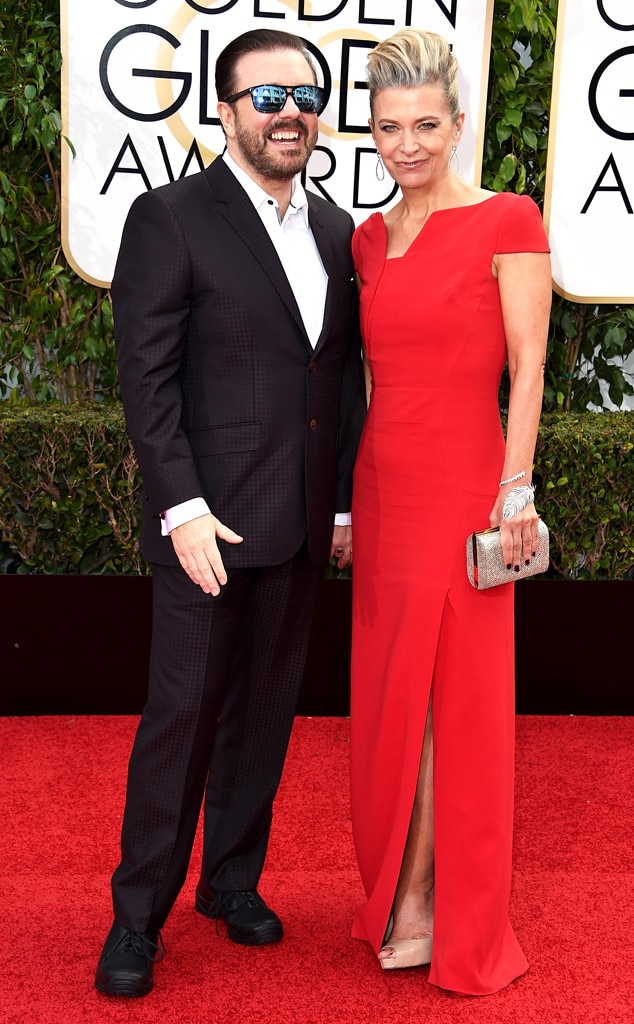 Ricky Gervais & Jane Fallon from Couples at the 2016 ...