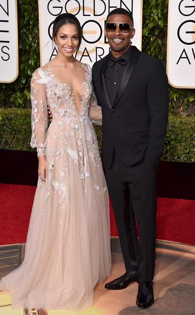 Jamie Foxx, Miss Golden Globe Corinne Foxx, Golden Globe Awards
