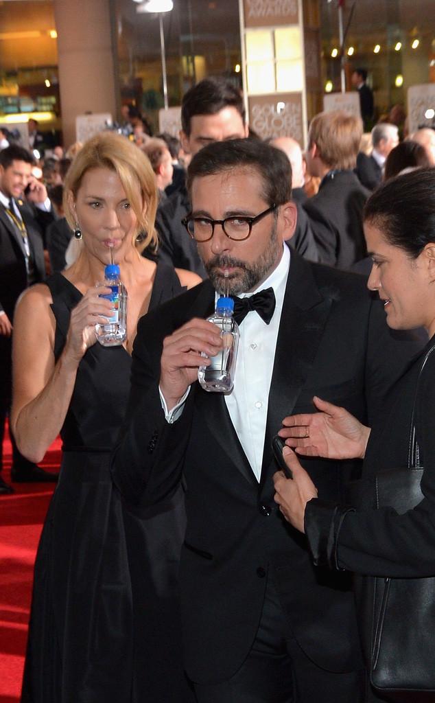 Golden Globe Awards Water, Nancy Carell, Steve Carell