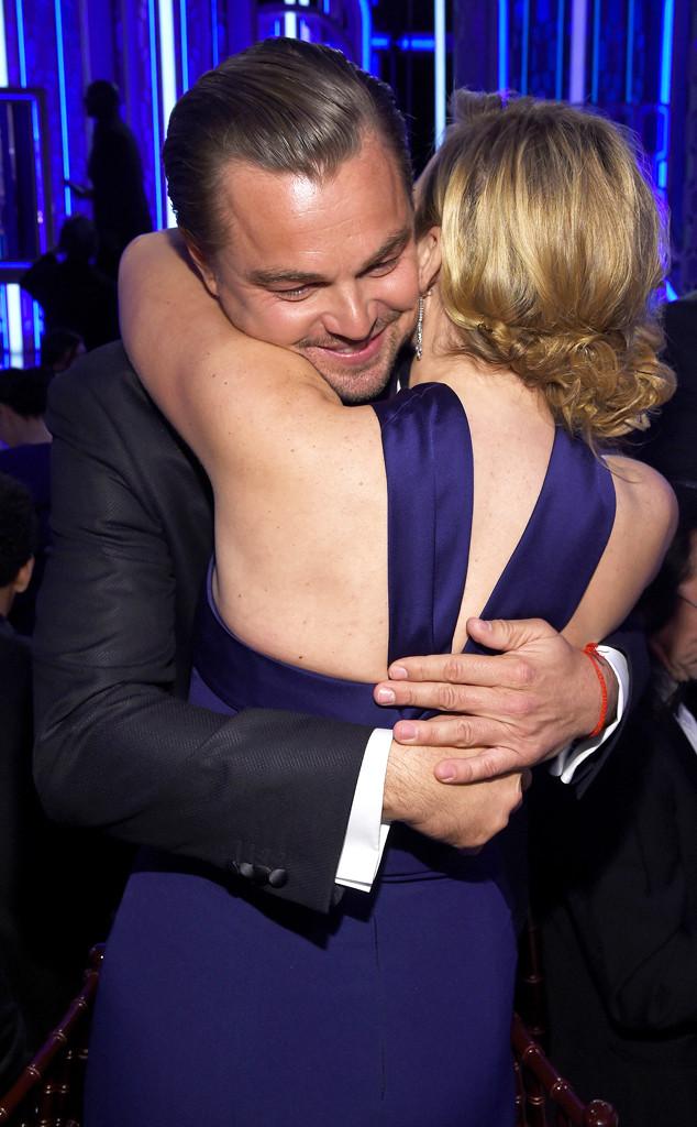 Leonardo DiCaprio, Kate Winslet, Golden Globe Awards, Candids
