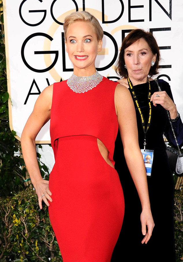 Jennifer Lawrence, Golden Globe Awards, Candids