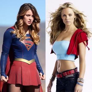 Laura Vandervoort, Melissa Benoist, Supergirl