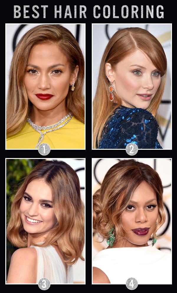 ESC Awards, Golden Globes, Hair Coloring
