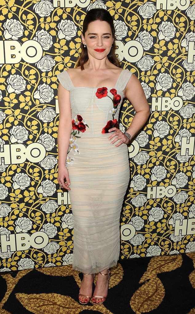 Emilia Clarke, Golden Globe Awards HBO Party