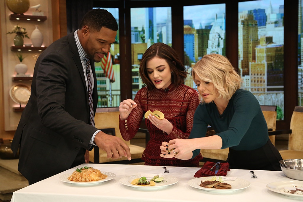 Lucy Hale, Michael Strahan, Kelly Ripa