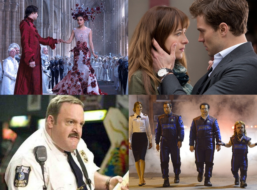 Paul Blart: Mall Cop 2, Pixels. 50 Shades of Grey, Jupiter Ascending