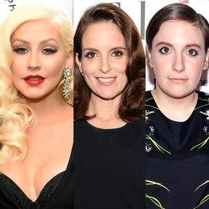 Christina Aguilera, Tina Fey, Lena Dunham