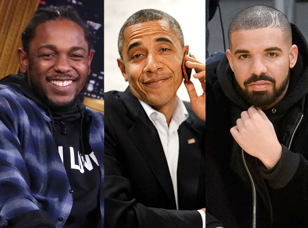 Barack Obama, Kendrick Lamar, Drake