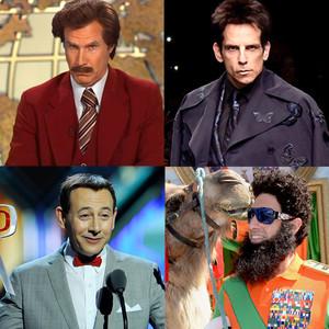 Zoolander, Ron Burgundy, The Dictator, Pee-Wee Herman