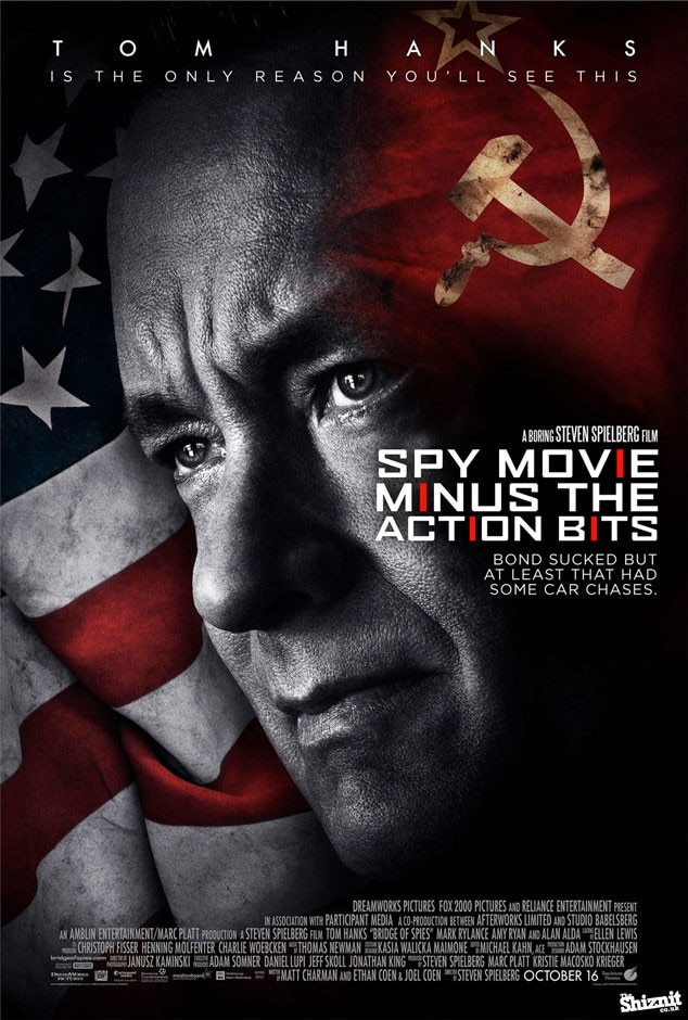 Bridge of Spies Fake Movie Poster, Spy Movie Minus the Action Bits