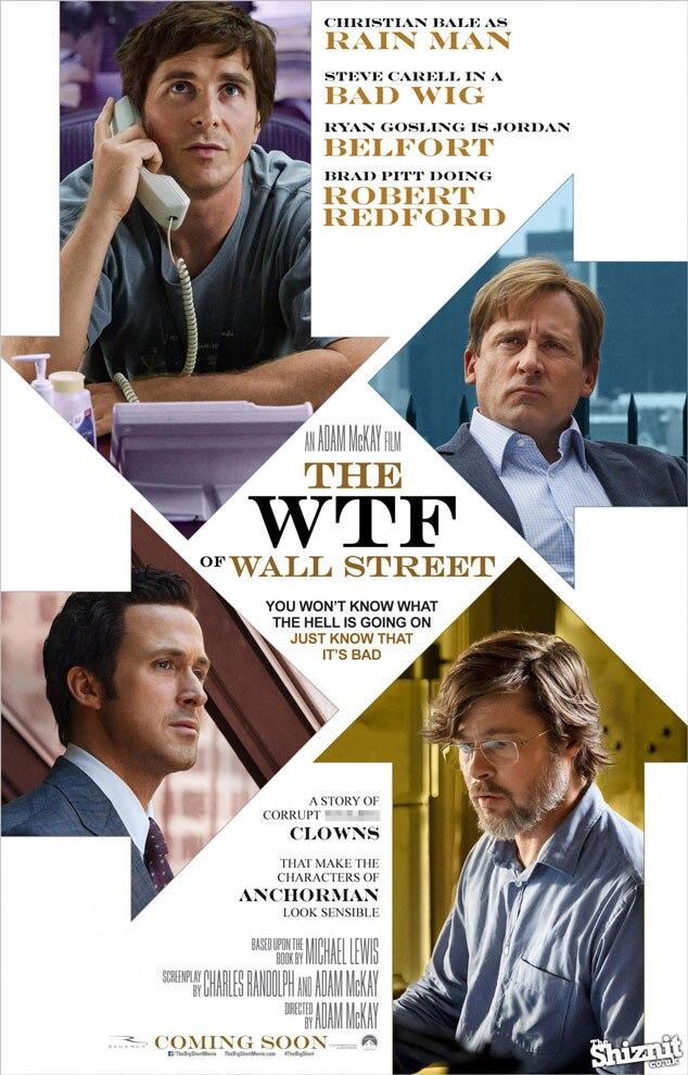 The Big Short Fake Movie Poster, WTF Wallstreet