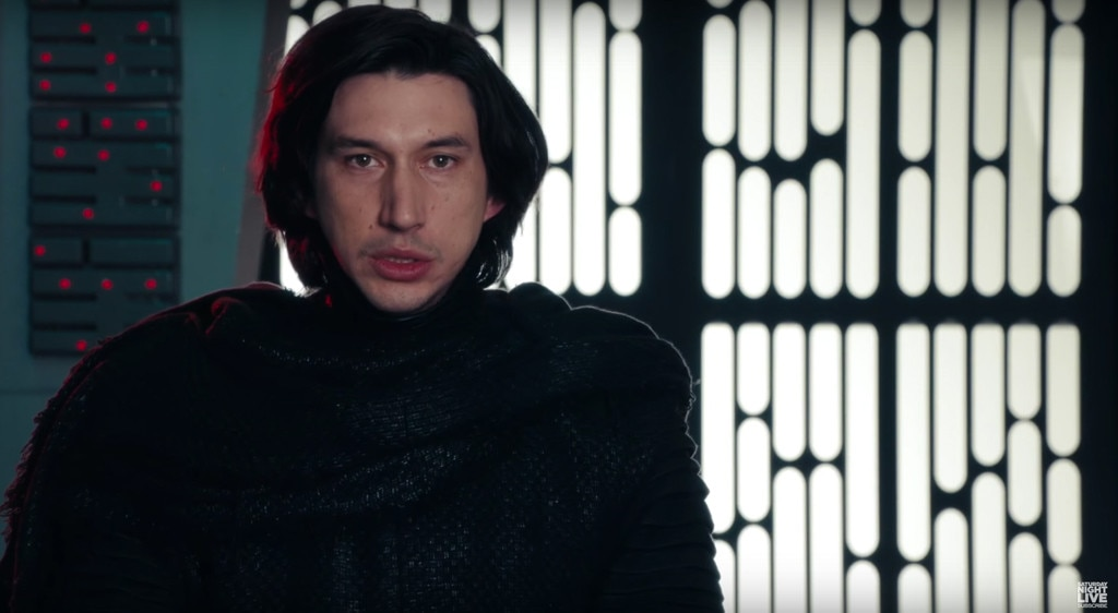 Adam Driver, SNL, Star Wars: The Force Awakens, Kylo Ren Parody