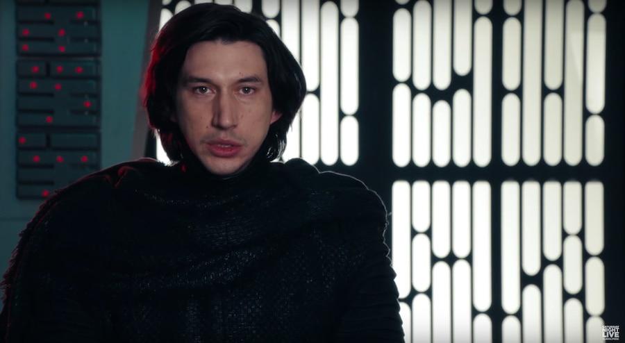 Adam Driver, SNL, Star Wars: The Force Awakens, Kylo Ren Parody