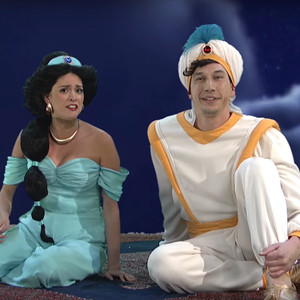 Adam Driver, Cecily Strong, SNL, Aladdin