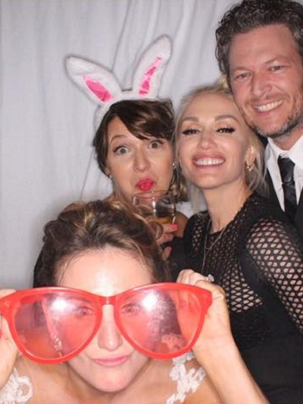 Gwen Stefani, Blake Shelton, Wedding Photo Booth