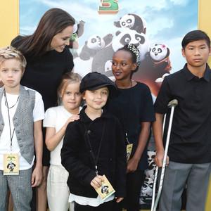Angelina Jolie and Bra... Angelina Jolie Kids Grown Up