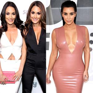 Nikki Bella, Brie Bella, Kim Kardashian