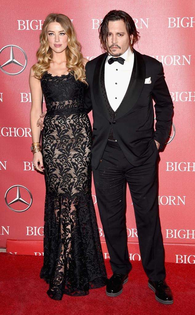 Johnny Depp, Amber Heard, Palm Springs International Film Festival