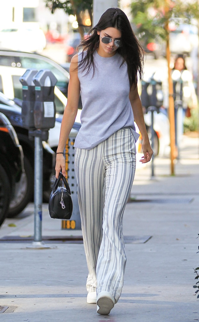 Stripe Casual From Kendall Jenner S Street Style E News