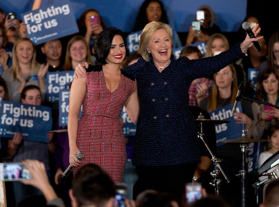 Hillary Clinton, Demi Lovato