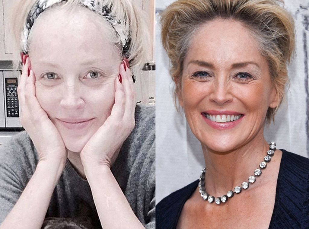 Sharon Stone from Stars Without Makeup E! News - Stars Without Makeup