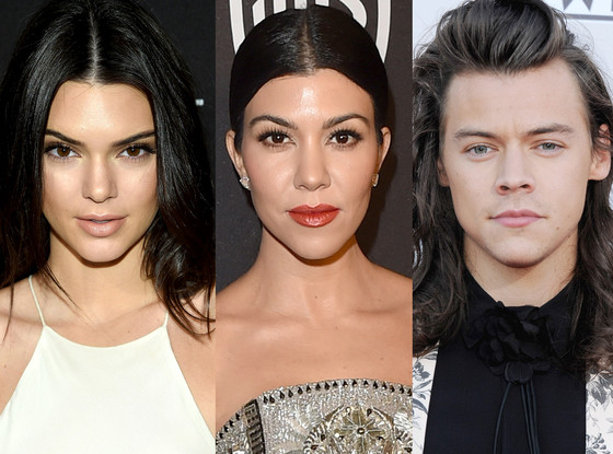 Kourtney Kardashian, Kendall Jenner, Harry Styles