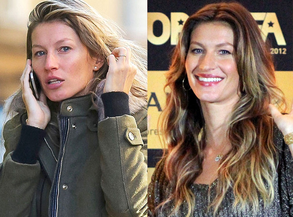 Gisele Bundchen, No Makeup