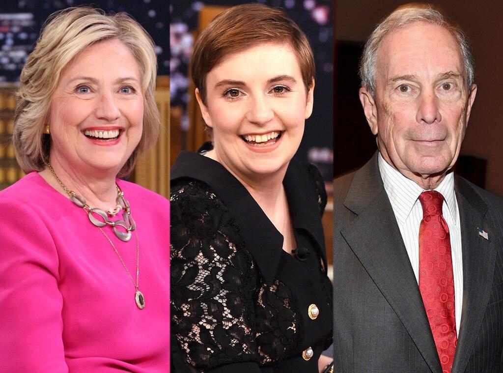 Hillary Clinton, Lena Dunham, Michael Bloomberg