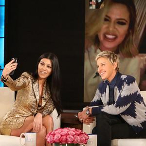 Kourtney Kardashian, Ellen DeGeneres, Khloe Kardashian