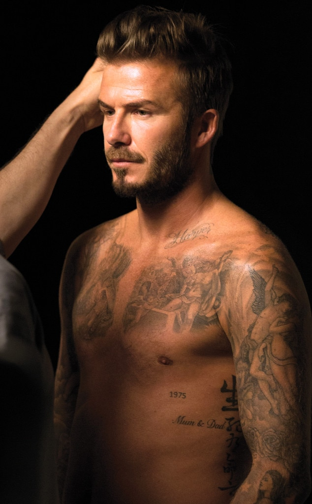 David Beckham, Shirtless