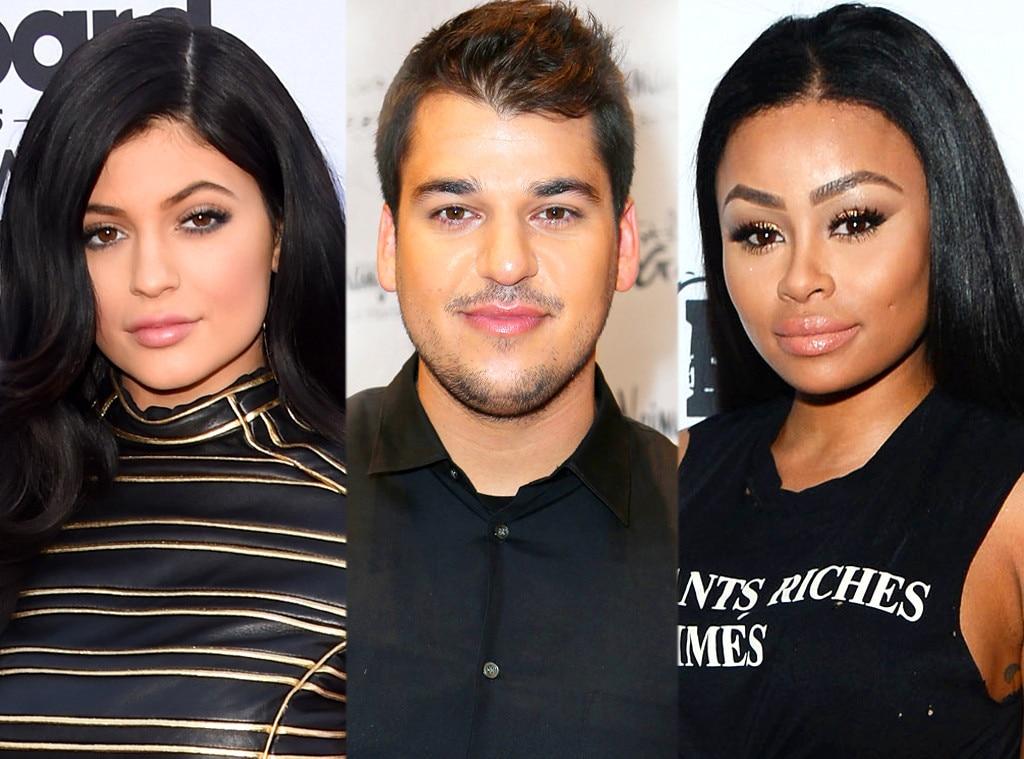 Kylie Jenner, Rob Kardashian, Blac Chyna