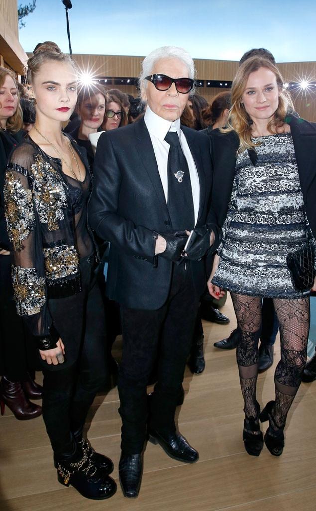 Cara Delevingne, Karl Lagerfeld, Diane Kruger