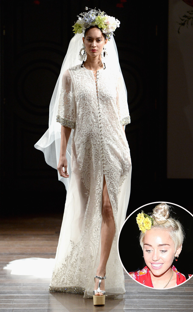 Miley Cyrus Wedding Dress