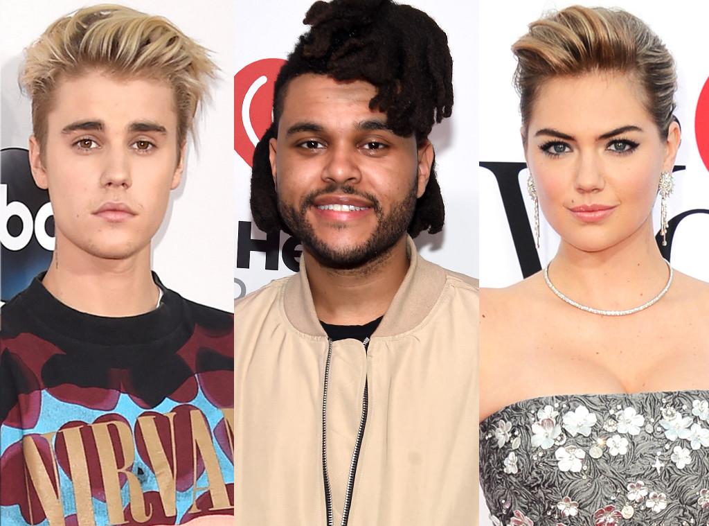 Justin Bieber, The Weeknd, Kate Upton