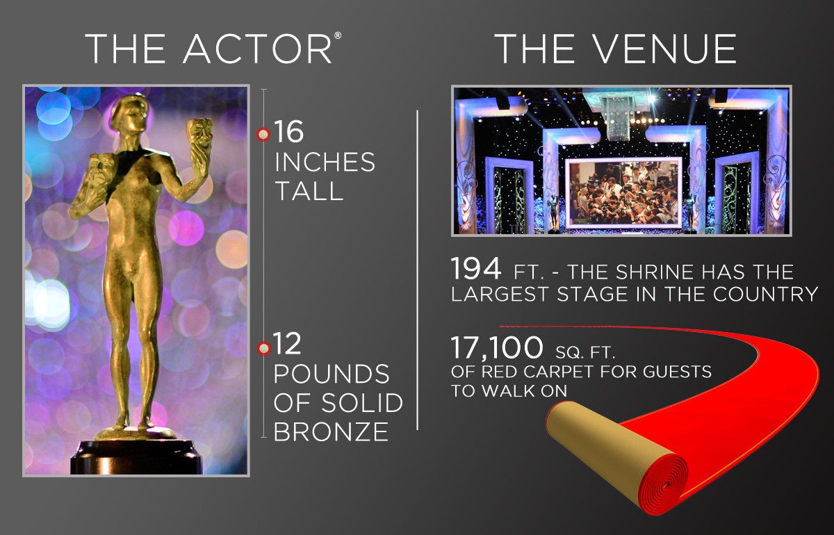 SAG Awards By The Numbers