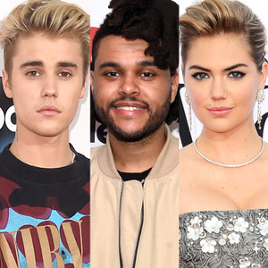 Justin Bieber, The Weeknd, Kate Upton