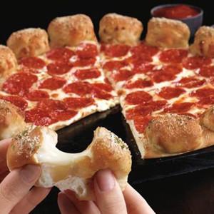 Pizza Hut Garlic Knot Crust Pizza