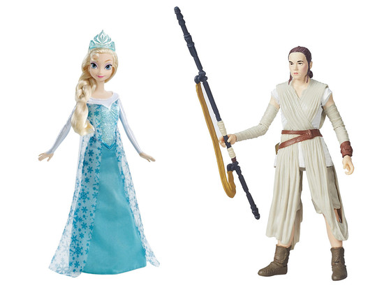 Elsa Frozen, Rey, Star Wars, Doll