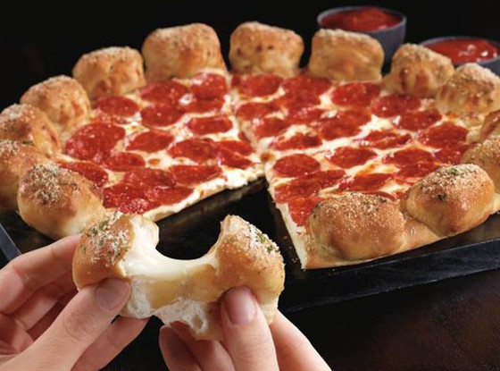 Pizza Hut Stuffed Garlic Knot Crust Pizza